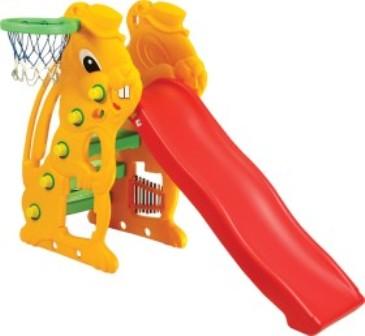 Купить CHING-CHING Горка детская Заяц с баскетбольным кольцом [SL-07], Тайвань, Игровые и спортивные комплексы и горки