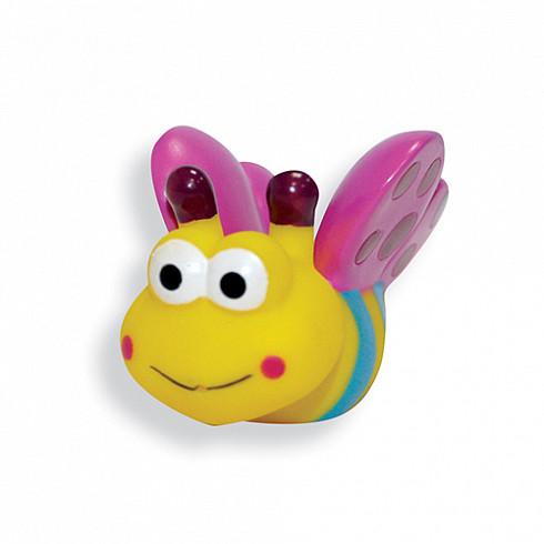 Купить LUBBY Игрушка для купания Пчелка , с 12 месяцев, ПВХ, цвет желтый, розовый [13831/288/24], Желтый, розовый, Детские игрушки для ванной