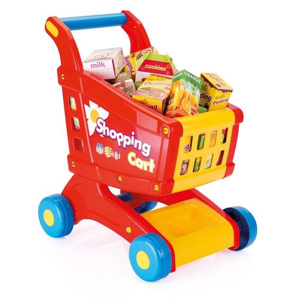 Купить DOLU Игровой набор тележка с продуктами [DL_6058], 48 x 30 x 40 см, пластик, Играем в магазин
