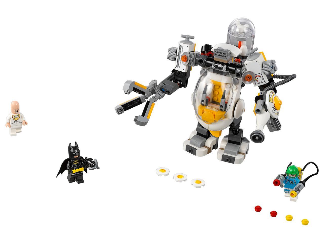 Купить Конструктор LEGO 70920 Batman Movie Бой с роботом Яйцеголового, пластик, Для мальчиков и девочек, Чехия, Конструкторы