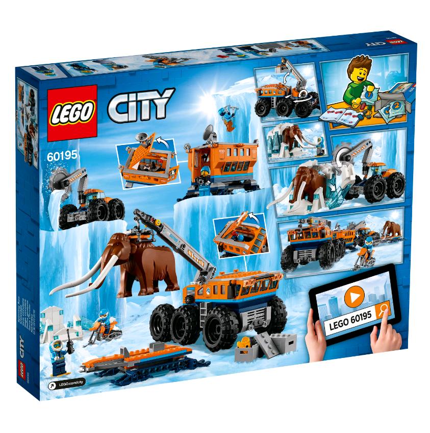 Купить Конструктор LEGO 60195 City Arctic Expedition Передвижная арктическая база, пластик, Для мальчиков и девочек, Дания, Конструкторы