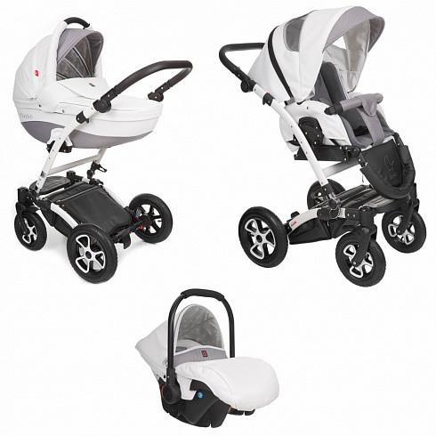 Купить TUTEK Детская коляска Torero , 3 в 1, цвет: ECO7/серый с белым [УТ-0001603ECO7], пластик, Металл, Текстиль, Детские коляски