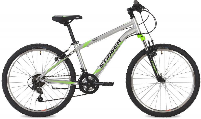 Купить STINGER Велосипедхардтейл Element (2019), серебристый [24AHVELEMENT12SL9], Велосипеды для взрослых и детей