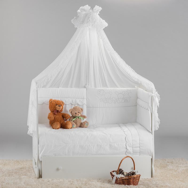 Купить 12359655, ОСТРОВОК УЮТА Кроватка Птенчики маятник поперечный слоновая кость [ОУ-2-07/01(2)], Кроватки детские