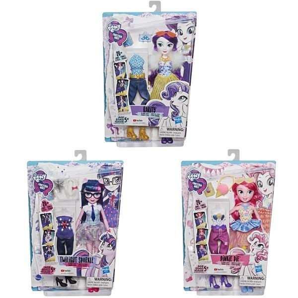 Купить HASBRO My Little Pony Equestria Girls. Кукла Уникальный наряд ( Пинки Пай, Искорка и Рарити) [E1931EU4], пластмасса, Игровые наборы и фигурки для детей