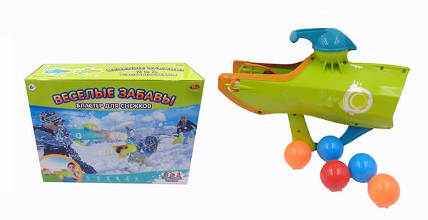 Купить ABTOYS Бластер для снежков 2 в 1 Веселые забавы [PT-00865], Игрушечное оружие и бластеры