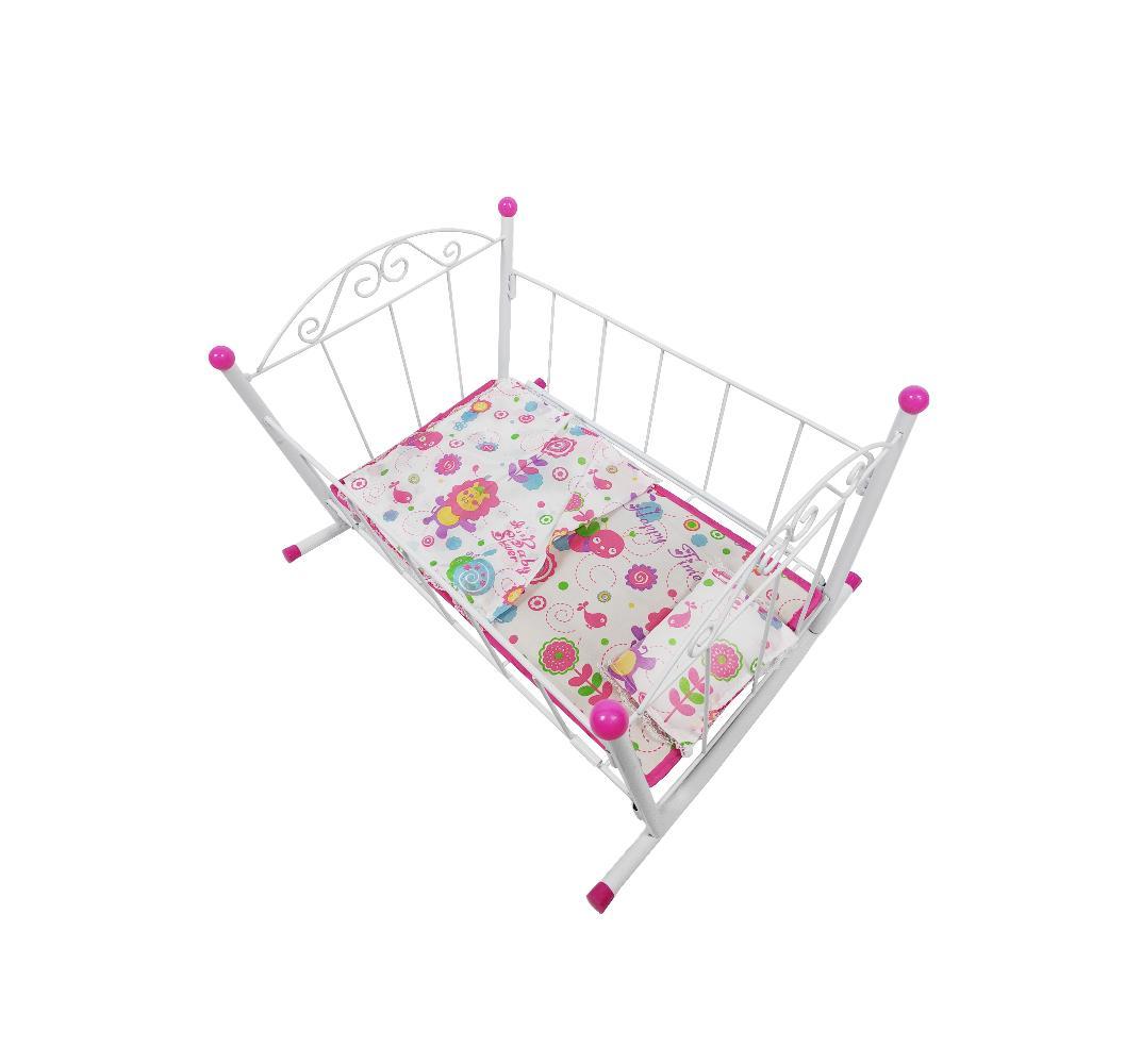 Купить Кроватка для кукол Doll Stroller (1834-C0354) розовая, Китай, Мебель для кукол
