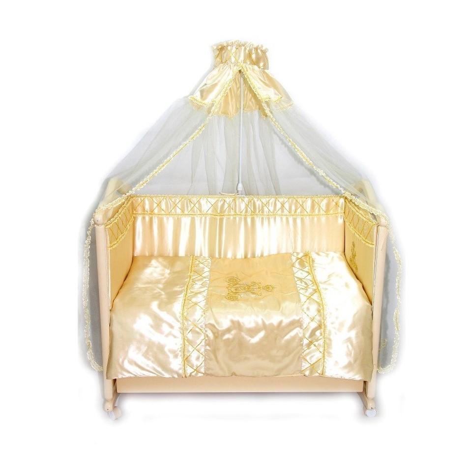 Купить BOMBUS Комплект в кроватку Золушка , 7 предметов, цвет: бежевый [1533], Хлопок, холлкон, Для мальчиков и девочек, Постельное белье для малышей