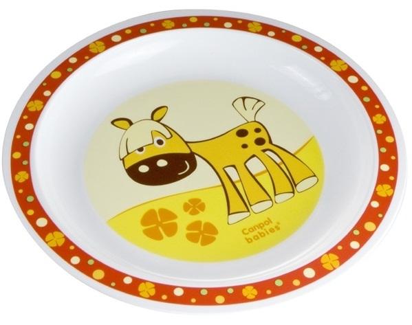 Купить CANPOL Тарелка пластиковая Лошадка , цвет: красный [250930174], Посуда для малышей