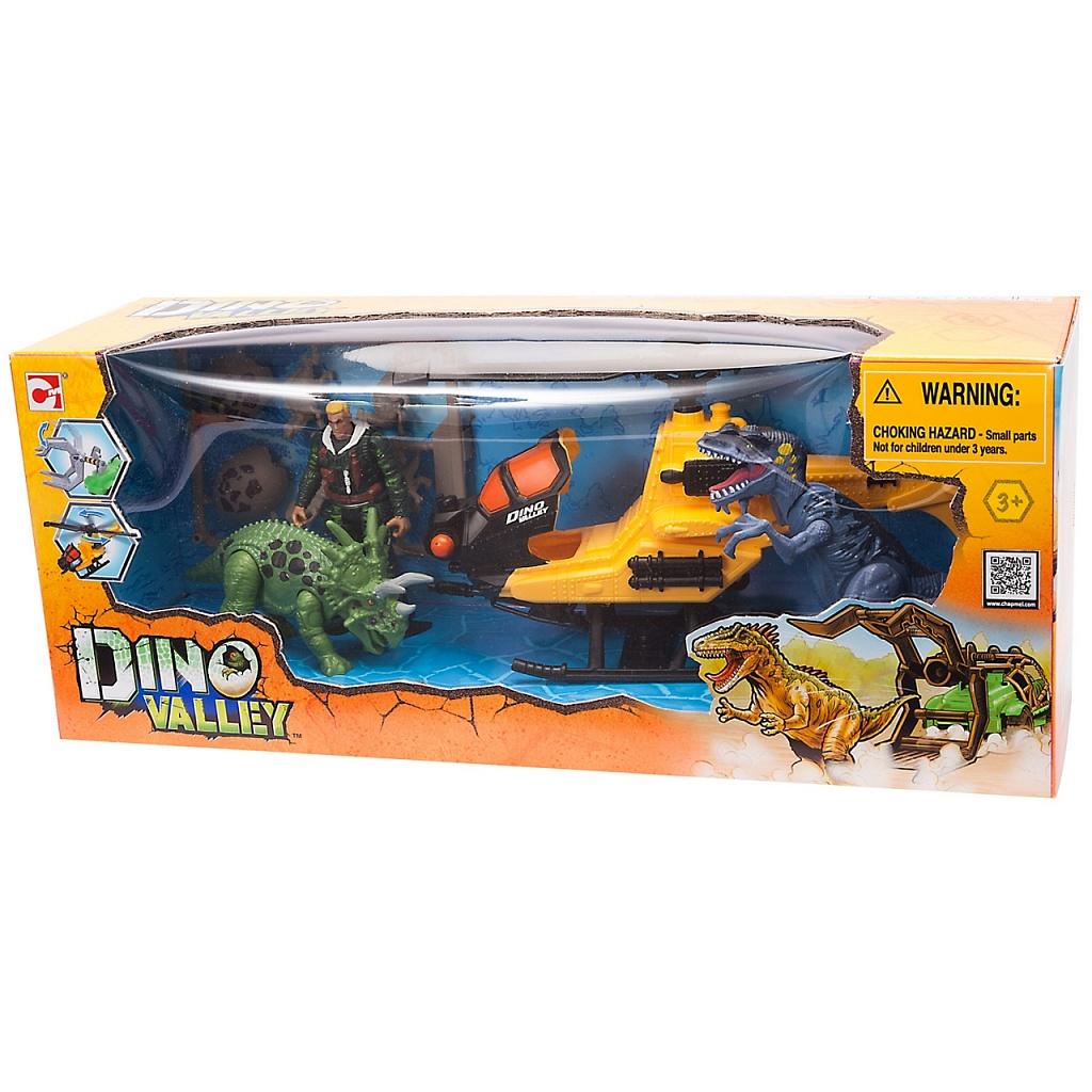 Купить Игровой набор CHAP MEI 542002-1 Охотник за динозаврами (вертолёт), пластик, Игровые наборы и фигурки для детей