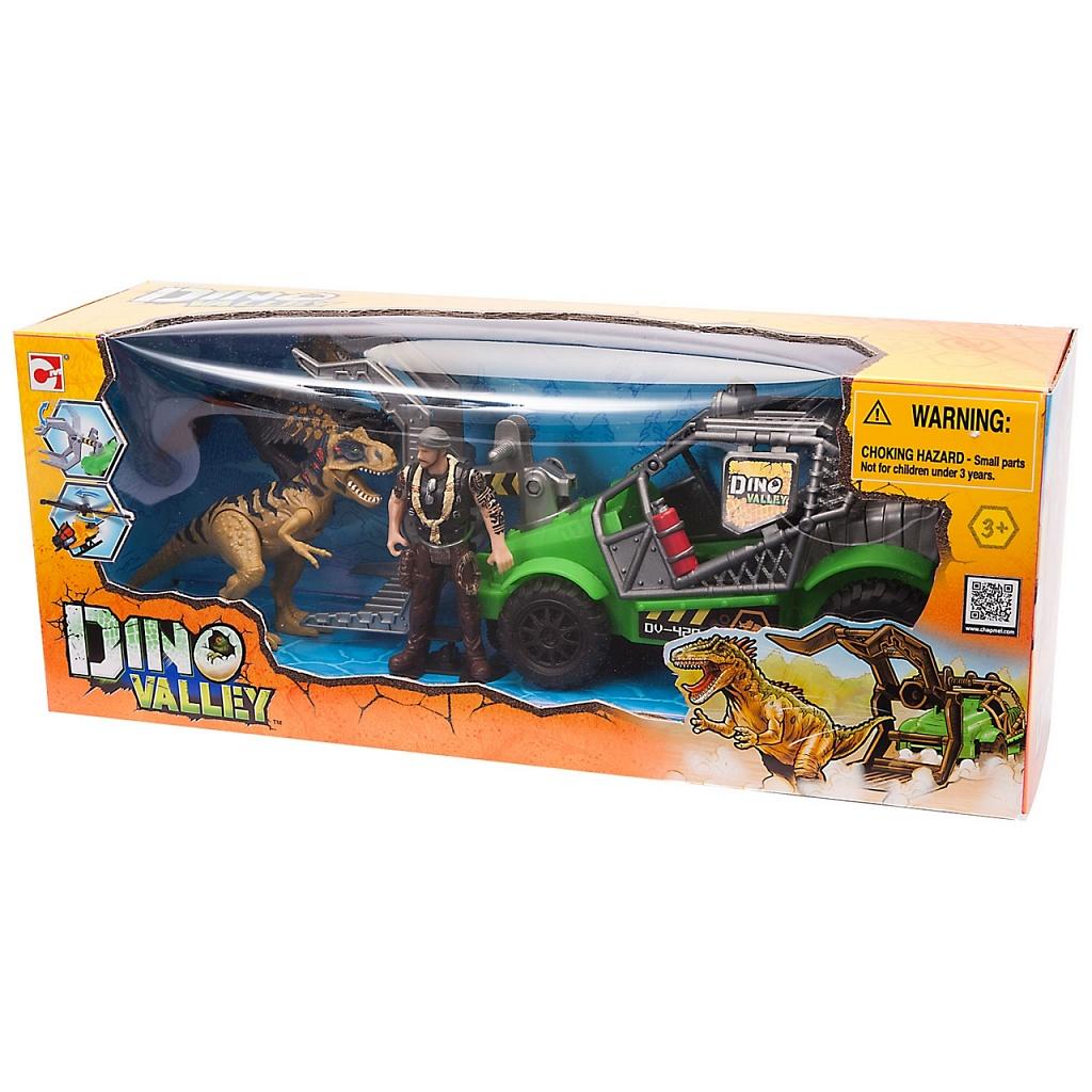 Купить Игровой набор CHAP MEI 542002-2 Охотник за динозаврами (джип), пластик, Игровые наборы и фигурки для детей