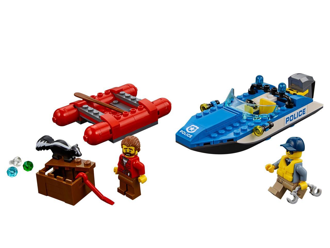 Купить Конструктор LEGO 60176 City Police Погоня по горной реке, пластик, Для мальчиков и девочек, Китай, Конструкторы