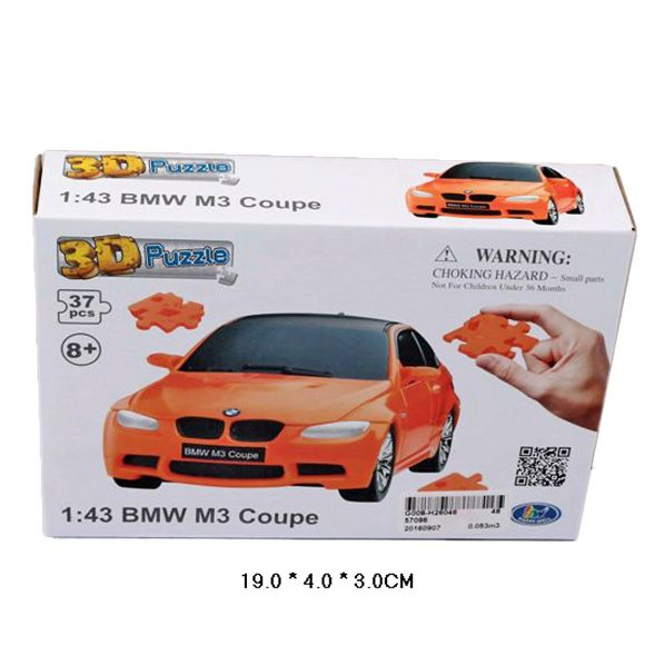 Купить HAPPY WELL 1:43 BMW M3 Coupe 3D Puzzle Non Assemble [57096], пластик, Пазлы