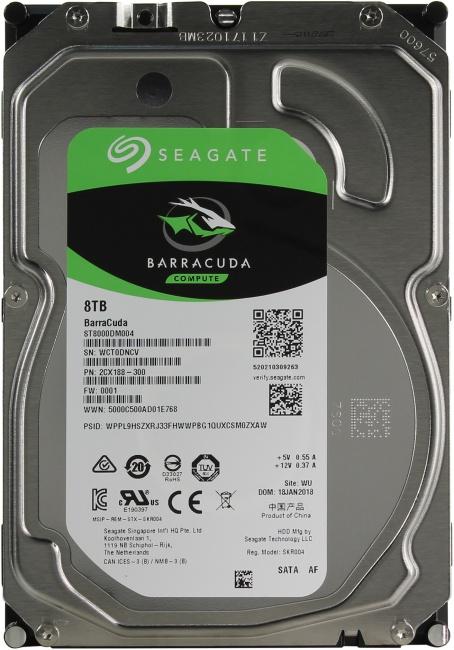 Жесткий диск 8 Тб Seagate Barracuda Compute (ST8000DM004) 3.5