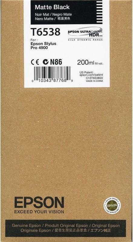Струйный картридж Epson T6538 Matte Black (C13T653800) фото