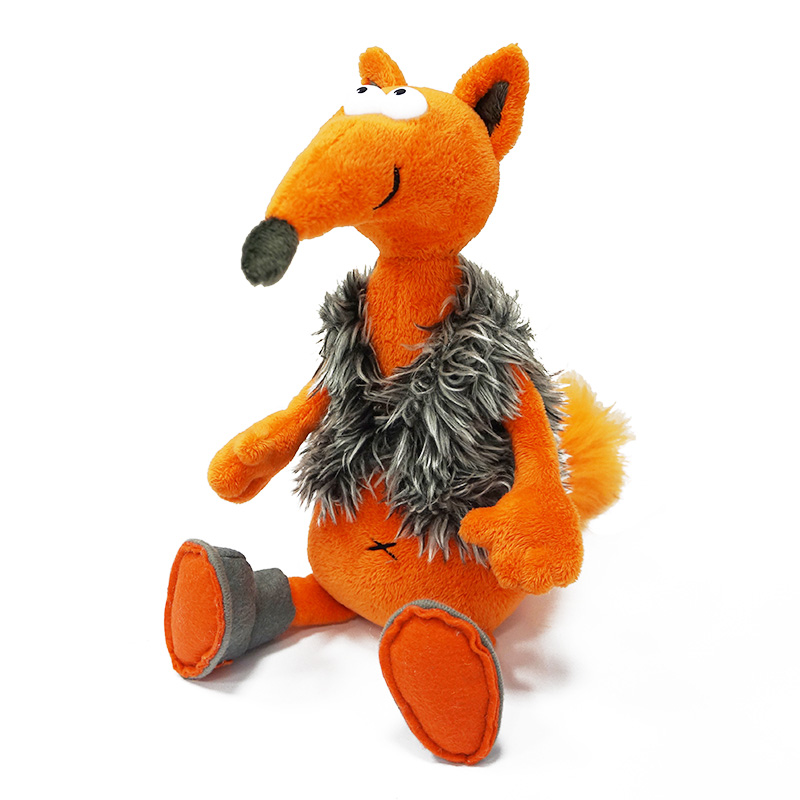 Купить Мягкая игрушка ДУRАШКИ MT-TS12201303-26 Хитрый Лис & Valenki, Искусственный мех, полиэтиленовые гранулы, синтетическое волокно, элементы из пластмассы, Для мальчиков и девочек, Китай, Мягкие игрушки