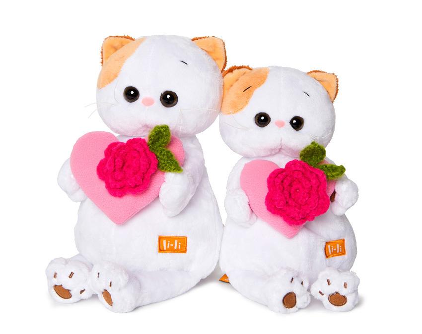 Купить ЗАЙКА МИ Мягкая игрушка Ли-Ли, с розовым сердечком, 24 см [LK24-004], Зайка ми, Мягкие игрушки