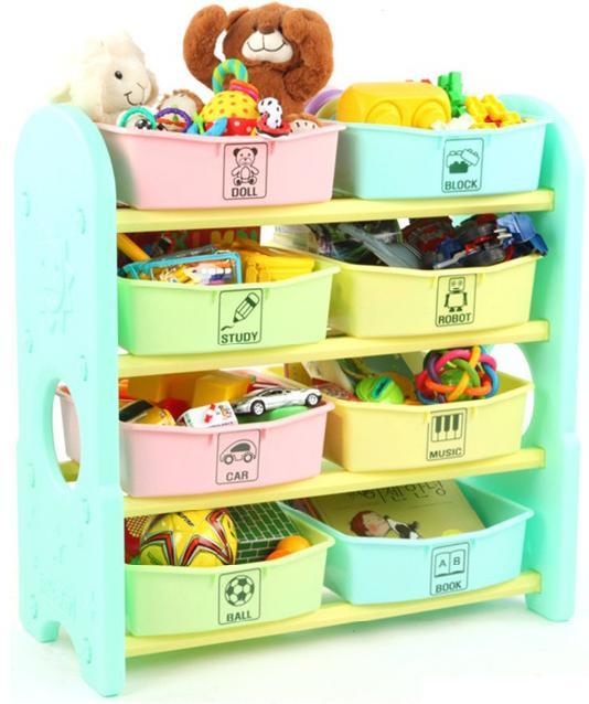 Купить EDU PLAY Стеллаж для игрушек с ящиками (76х36х80.5) [AR-7385MN], Корея (Республика), Принадлежности для хранения игрушек