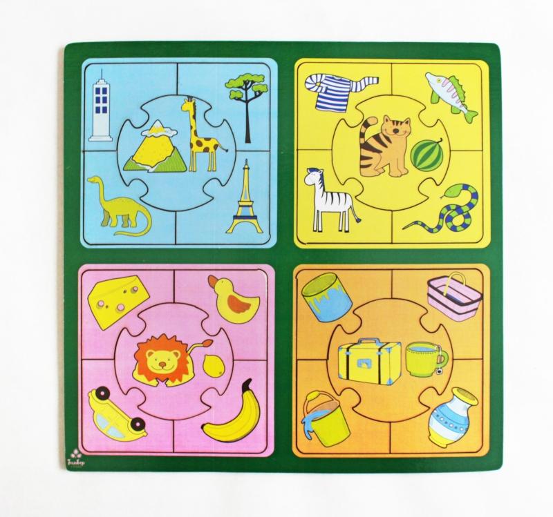 Купить Развивающая игрушка: пазл большой Признаки [IG0087], Обучающие материалы и авторские методики для детей