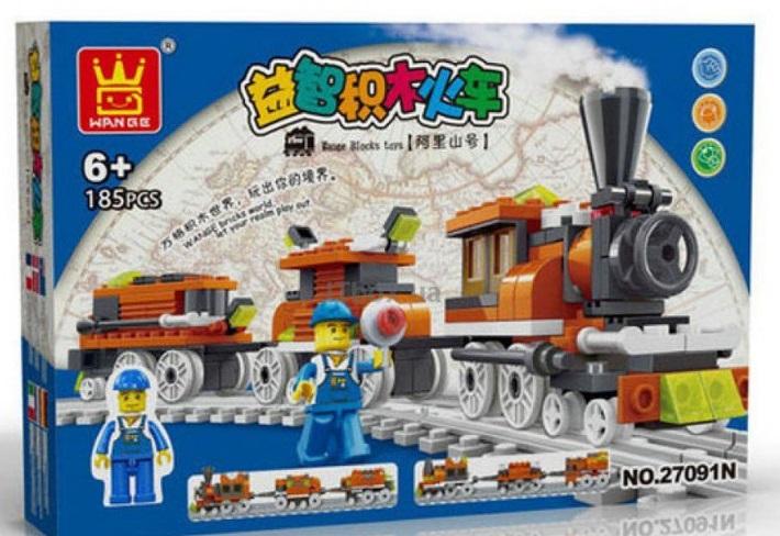 Купить JUNFA TOYS Конструктор Поезд , 185 деталей [27091N], Китай, Конструкторы