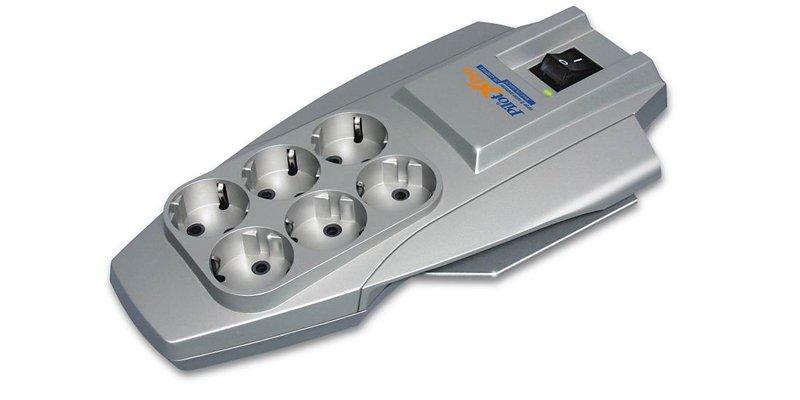 Купить Сетевой фильтр Pilot X-Pro 3м (6 розеток) Gray, Серый