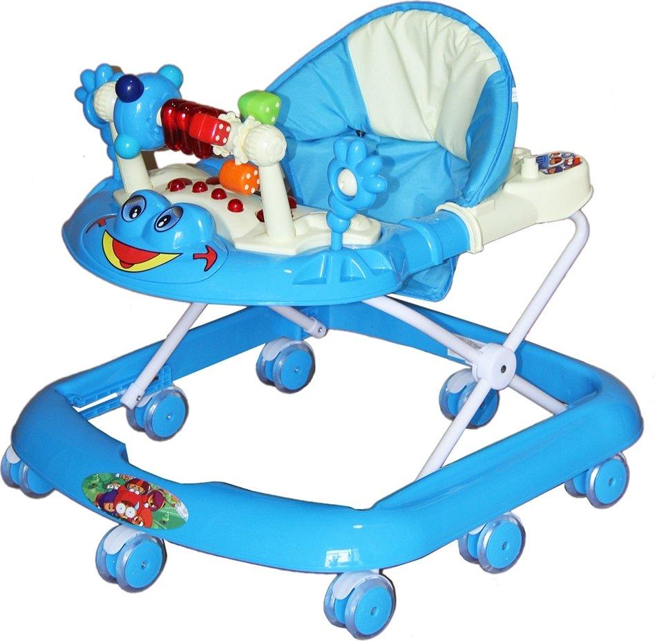 Купить BAMBOLA Ходунки ЛЯГУШОНОК (8 колес СИЛИКОН, игрушки, муз) 5 шт в кор.(67x60x51) BLUE голубой [SR528], Ходунки и прыгунки для малышей