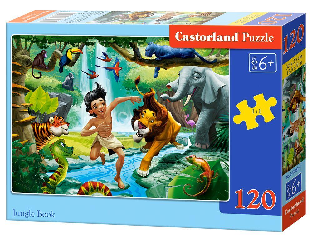 Купить CASTORLAND Пазл-midi Книга джунглей , 120 элементов [B-13487], 130 x 180 x 35 мм, Картон, Пазлы