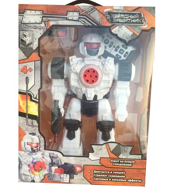 Купить 1 TOY Радиоуправляемый робот Звездный защитник (свет, звук, стреляет), 26 см [Т59068], пластик, Игрушечные роботы и трансформеры