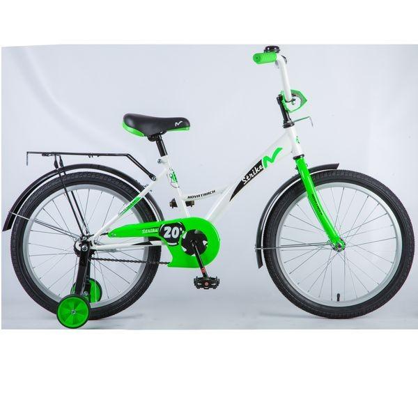 Купить Велосипед Novatrack Strike (цвет: белый/зеленый, 20 ) [203STRIKE.WTG8], Зеленый, пластик, Металл, Китай, Велосипеды для взрослых и детей