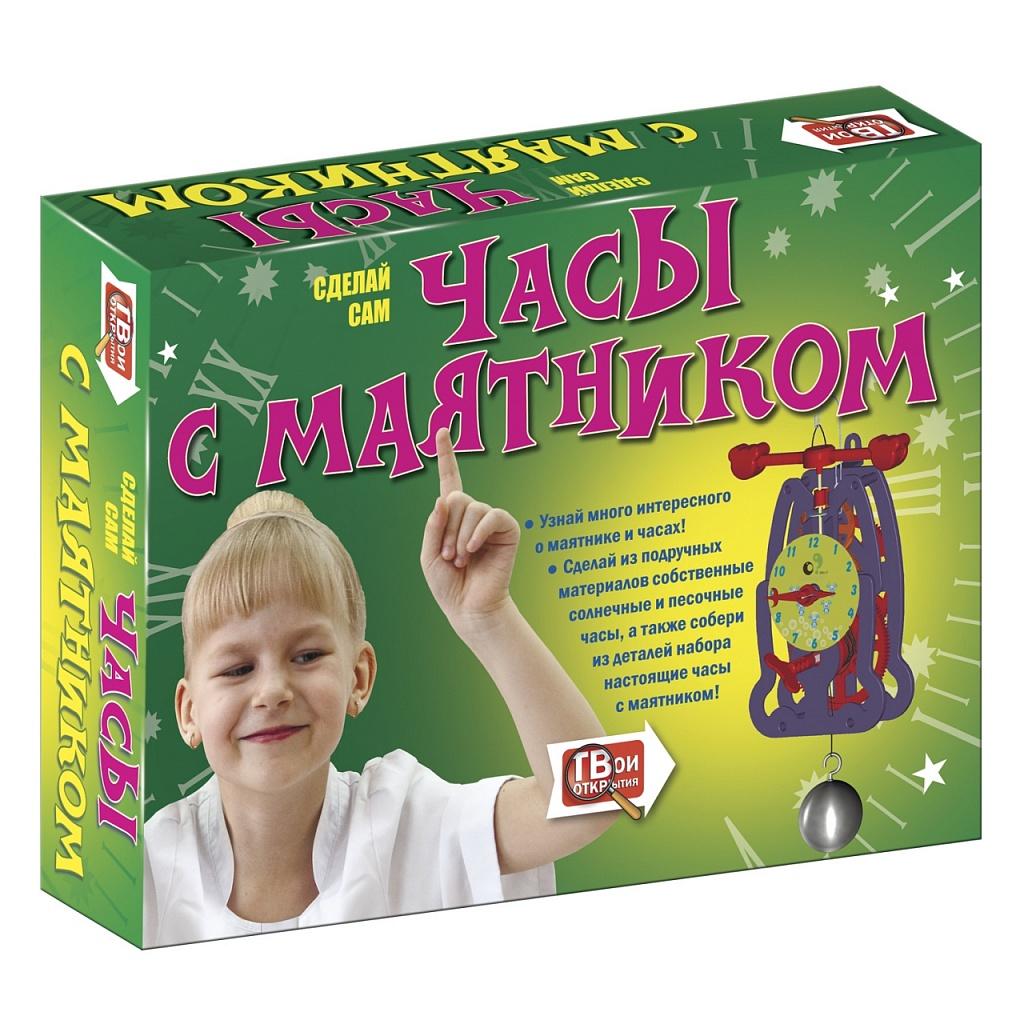 Купить Набор для опытов НОВЫЙ ФОРМАТ 80721 Часы с маятником, Новый формат, пластик, Бумага, Картон, Для мальчиков и девочек, Детские наборы для исследований