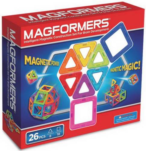 Купить MAGFORMERS Магнитный конструктор (26 элементов) [701004 (63087)], пластик, Конструкторы