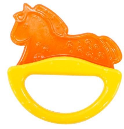 Купить CANPOL Погремушка с эластичным прорезывателем Лошадка , цвет: желтый [250930506], Желтый, Этиленвинилацетат, ABC-пластик, Погремушки и прорезыватели