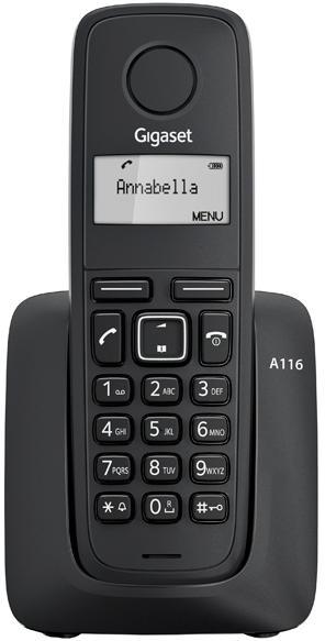Телефон DECT Gigaset A116 Black