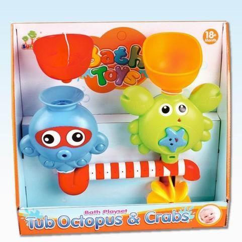 Купить НАША ИГРУШКА Набор для игры в ванной Осьминог и Крабик, кор. [Y18789122], пластик, Детские игрушки для ванной