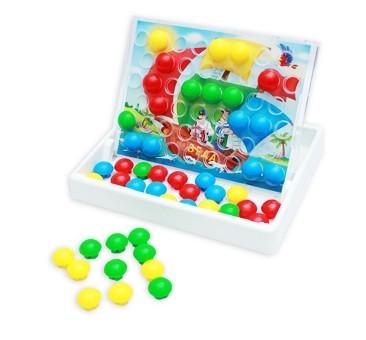 Купить РЫЖИЙ КОТ Мозаика-чемодан со схемами Мозайкин [И-8319/РК], 310 x 240 x 45 мм, пластик, Картон, Мозаика для детей