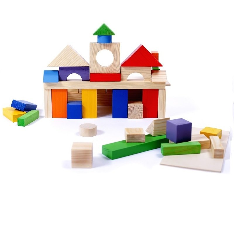 Купить PAREMO Деревянный конструктор, 51 деталь, окрашенный, в пакете [PE117-10], Дерево, Конструкторы