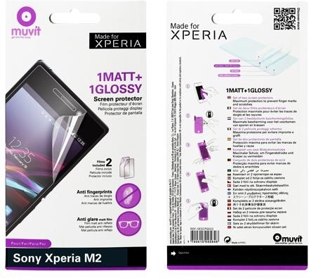 Купить Защитная пленка Muvit Screen Guard AntiFinger для Sony Xperia M2, Прозрачный
