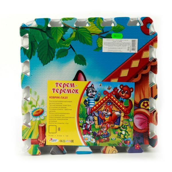 Купить ИГРАЕМ ВМЕСТЕ Коврик-пазл Теремок , 8 сегментов [FS-TEREM], Развивающие коврики для малышей