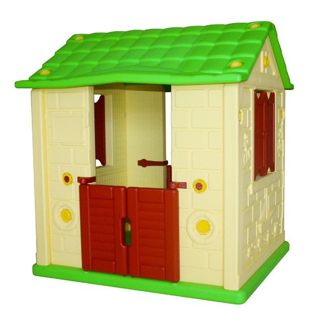Купить KING KIDS Игровой домик для детей Королевский (2 окна, 2 двери), желтый [KK_KH2000_Y], Желтый, 120 x 90 x 106 см, пластик, Детские игровые домики и палатки