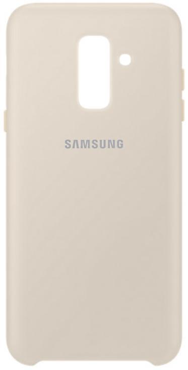 Купить Чехол (клип-кейс) Samsung для Samsung Galaxy A6+ 2018 Dual Layer Cover Gold (EF-PA605CFEGRU) Золотой, накладка, Китай