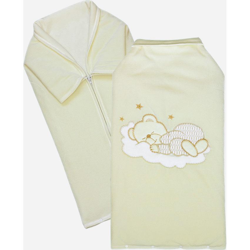Купить 12346061, ЗОЛОТОЙ ГУСЬ Плед - конверт велюр бежевый, [30013], Покрывала, подушки, одеяла для малышей