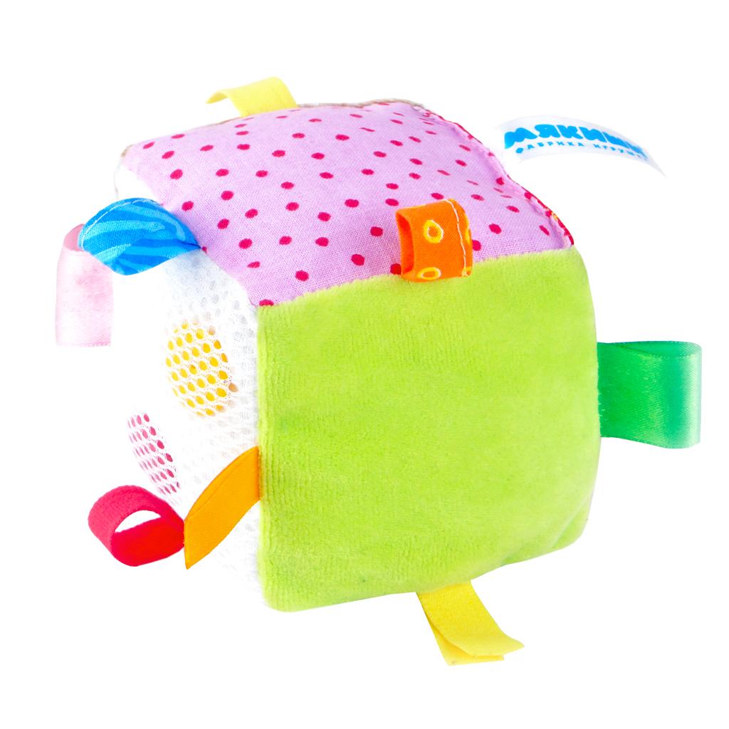 Купить Кубики МЯКИШИ 264 С петельками, Мякиши, 100 % х/б ткань, трикотаж, Для мальчиков и девочек, Россия, Кубики для малышей