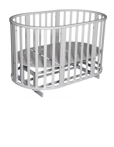 Купить АНТЕЛ Кровать детская Северянка 3 (цвет: белый) [УТ0008101], массив дерева, Кроватки детские