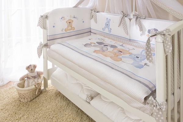 Купить 12360314, ТМ ПЕРИНА Комплект постельного белья ВЕНЕЦИЯ, 7 предмета Три друга, [В7-01.2], Постельное белье для малышей