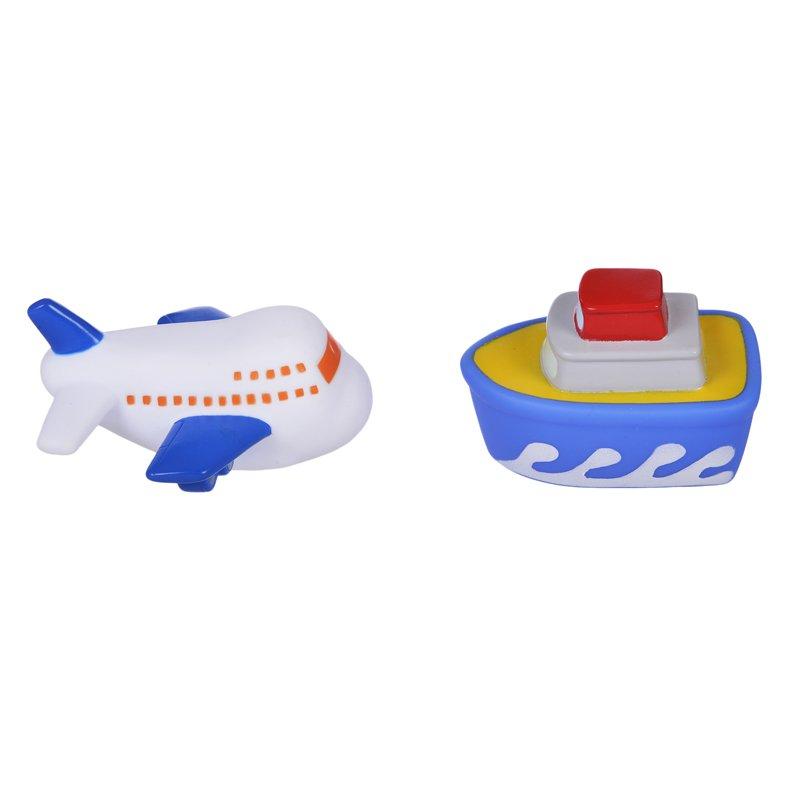 Купить ЖИРАФИКИ Набор для купания Самолёт и пароход [681265], Жирафики, ПВХ, Россия, Детские игрушки для ванной