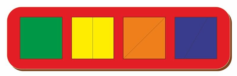 Купить Рамка-вкладыш WOODLAND 064501 Сложи квадрат 4 квадрата, уровень 1., Дерево и фанера, Для мальчиков и девочек, Россия, Обучающие материалы и авторские методики для детей