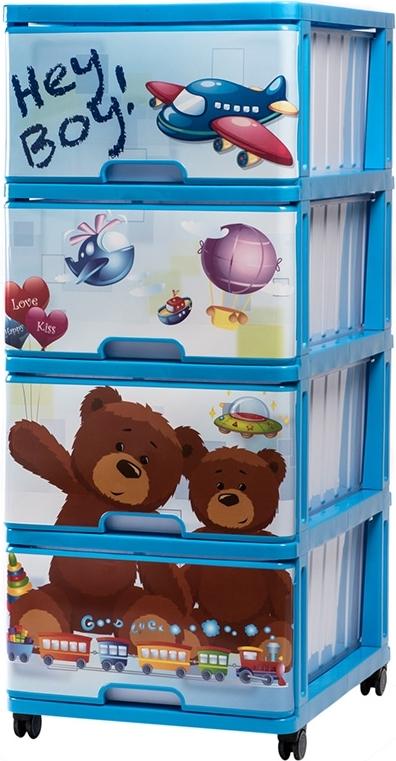 Купить DUNYA Комод с рисунком HEY BOY [40316], Принадлежности для хранения игрушек