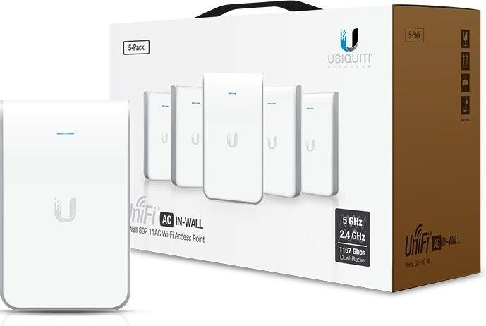 Wi-Fi точка доступа Ubiquiti UniFi AP AC In-Wall (5 шт)