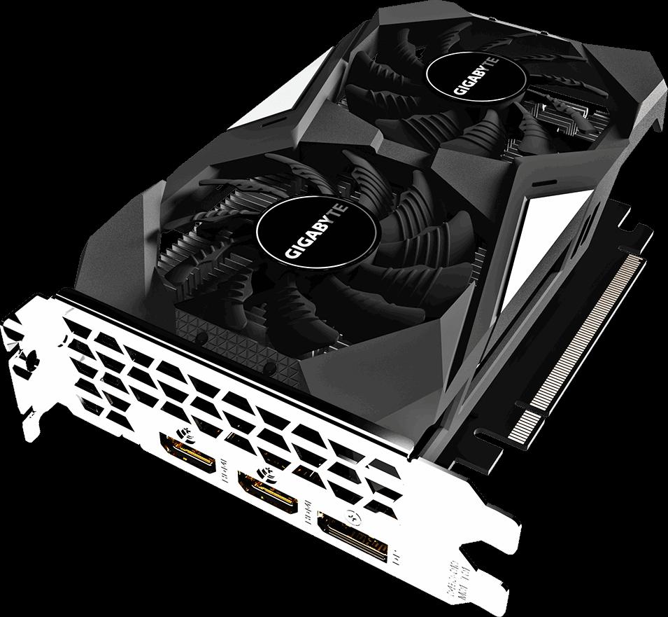 Видеокарта nVidia GeForce GTX1650 Gigabyte PCI-E 4096Mb (GV-N1650OC-4GD)