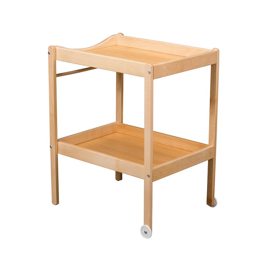 Купить 100, COMBELLE Столик для пеленания ALICE (дерево) 2 колеса Natural / Натуральный, Франция, Пеленальные столики и доски для малышей